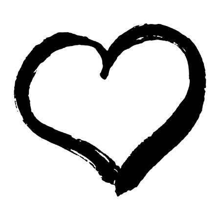 Ilustración de Hand drawn trendy heart shape for your romantic design. Valentines day concept made in vector. - Imagen libre de derechos