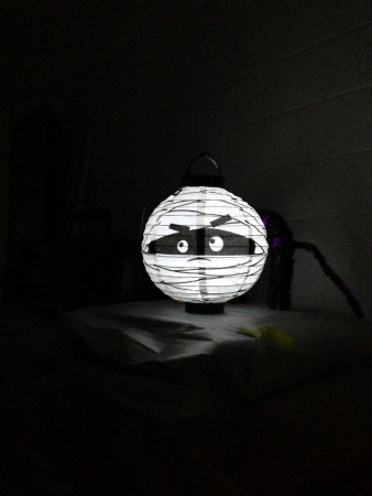 Halloween circled led lamp