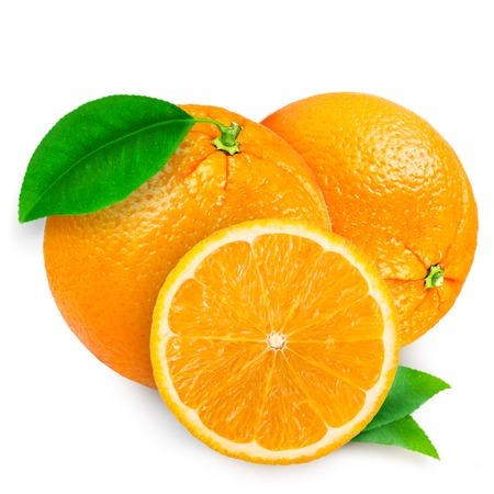 Photo for fresh orange isolated on white background - Royalty Free Image