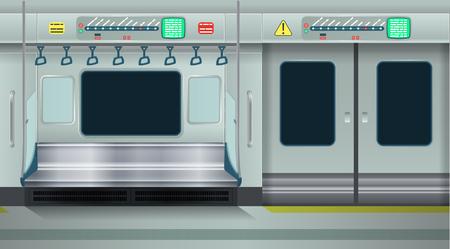 Illustration pour Interior empty metro. Cartoon vector illustration. Seamless background. - image libre de droit