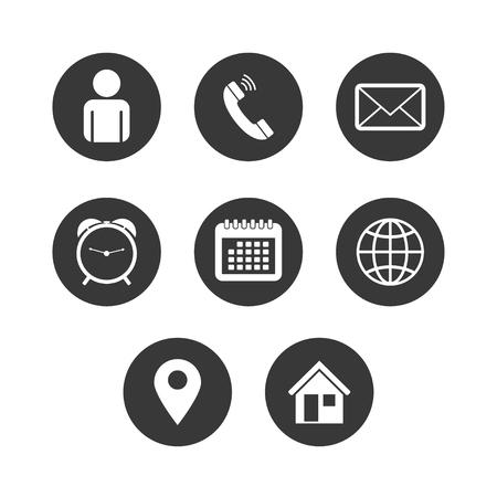 Illustration pour Vector of Contact Icon Set - image libre de droit