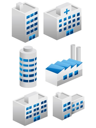 Architectures building icons set.