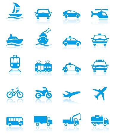 Ilustración de Transport icons - Imagen libre de derechos