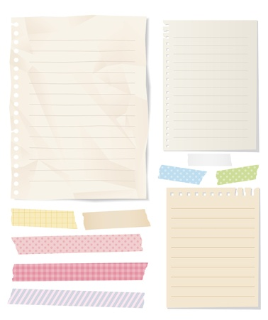 masking tape note paper isolated