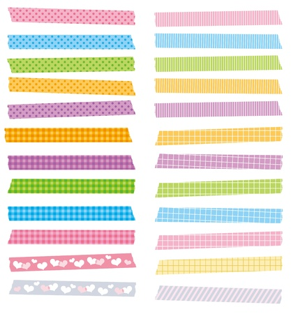 cute masking tape set vector