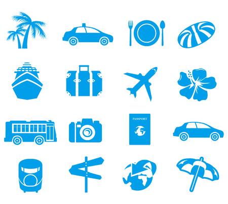 Illustration pour tourism icons Vector  - image libre de droit