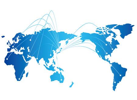 Illustration pour japan map network Vector - image libre de droit