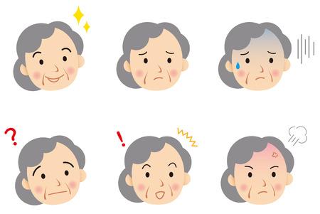 senior face Vector