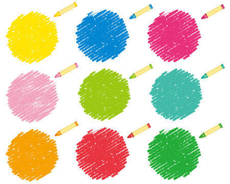 crayon collection Vector