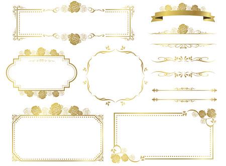 Illustration pour decorative frame set Vector - image libre de droit