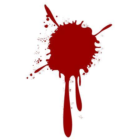Illustration for blood splatter splash drop paint - Royalty Free Image