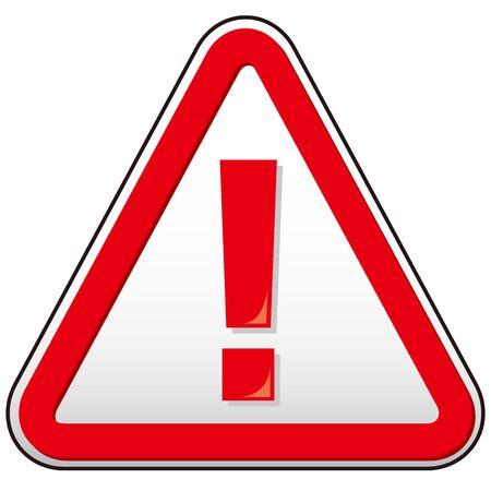 Illustration pour hazard sign icon vector triangle - image libre de droit