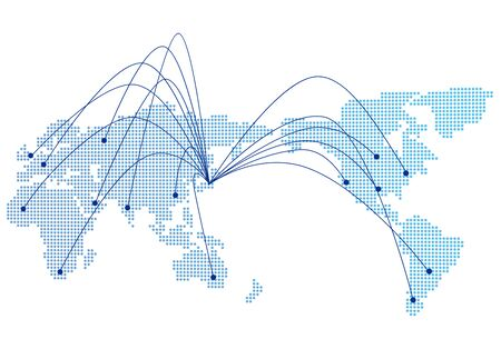 Illustration for Social networking service global Vector - Royalty Free Image