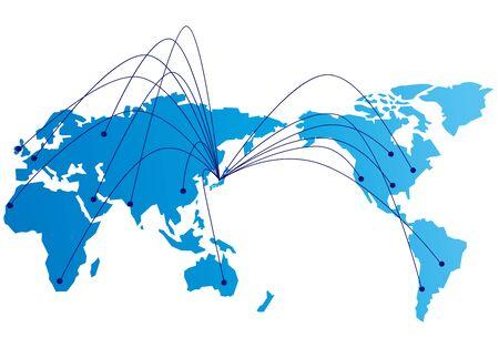 Illustration pour Social networking service global Vector - image libre de droit