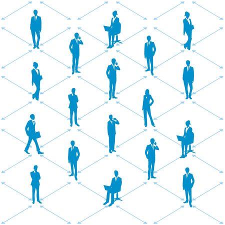Ilustración de Social distancing set of icons - Imagen libre de derechos