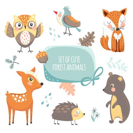Foto de Forest animals collection - Imagen libre de derechos