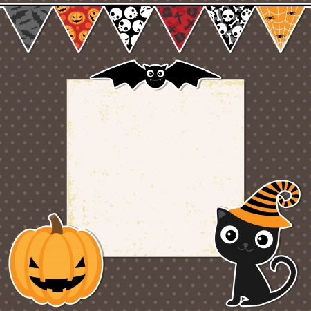 Cute Halloween party card with space for text