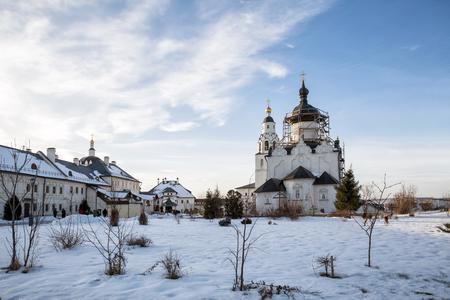 Many people visit Assumption Monastery, Sviyazhsk, Russia