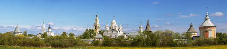 Photo pour Panoramic view of Spaso-Prilutsky Monastery in Vologda, Russia - image libre de droit