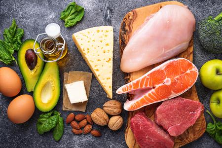 Foto de Healthy low carbs products. Ketogenic diet. - Imagen libre de derechos