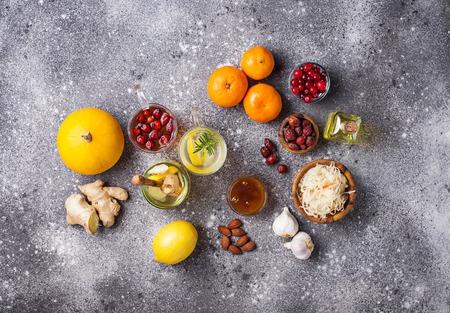 Foto de Healthy products for Immunity boosting - Imagen libre de derechos