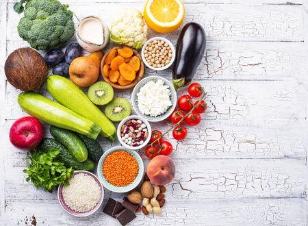 Photo pour Products with low glycemic index. Healthy food concept - image libre de droit