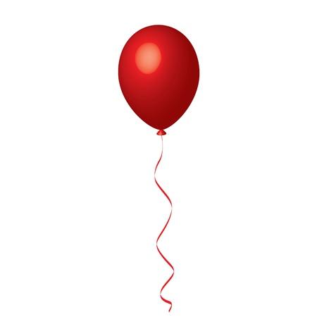 Vector illustration of red balloon