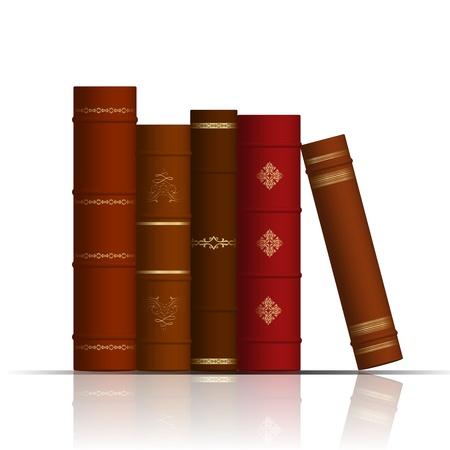 Illustration pour illustration of old books - image libre de droit