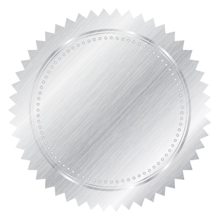 Vector silver seal