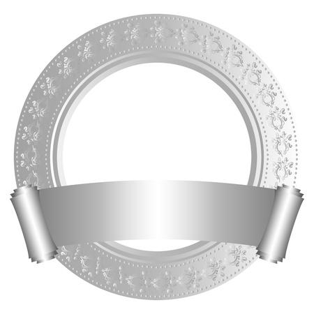 Circular frame with scroll