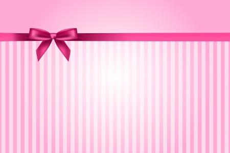 Illustration pour Vector pink background with bow - image libre de droit