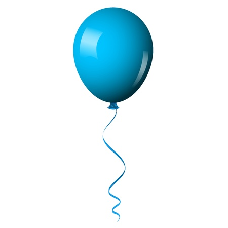 Vector illustration of blue shiny balloon