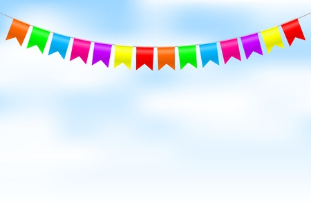 Illustration for Vector illustration of colorful bunting - Royalty Free Image