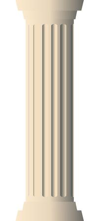 Vector illustration of column
