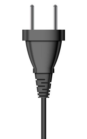Vector illustration of electric plug
