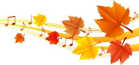 Autumn music illustration