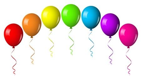 illustration of balloon arch