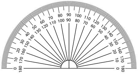 Vector illustration of protractor