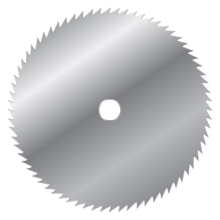 Vector illustration of saw blade