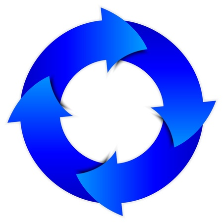 blue arrows circle