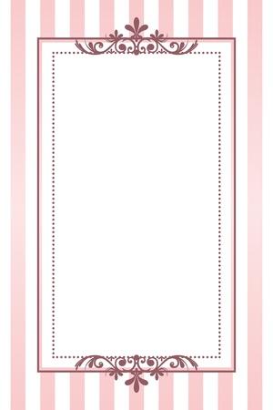 Illustration pour vintage pink striped frame - image libre de droit