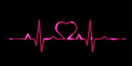 Cardiogram of love - vector illustration