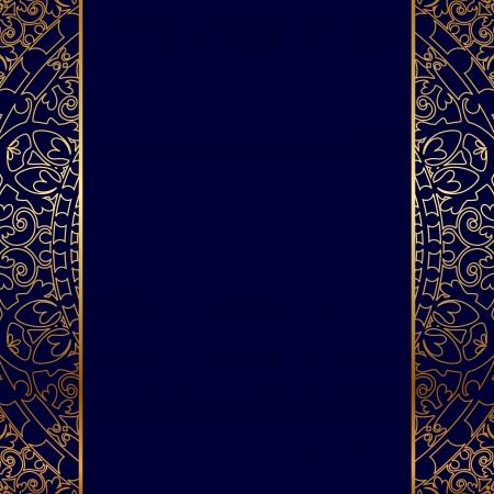 Illustration pour Vector gold ornate border - image libre de droit