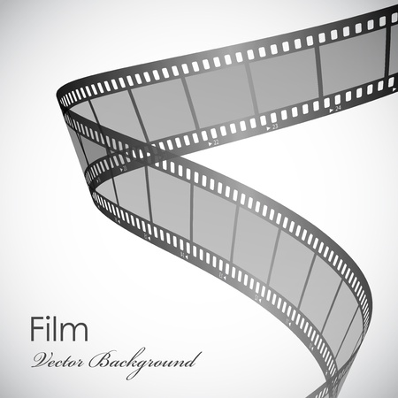 Vector background with film strip