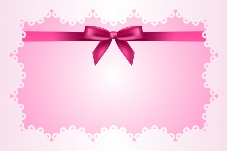 Baby pink frame with lace and ribbon