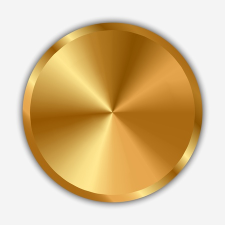 Vector illustration of gold knob