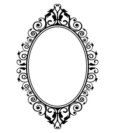 Illustration pour Vector illustration of vintage mirror - image libre de droit