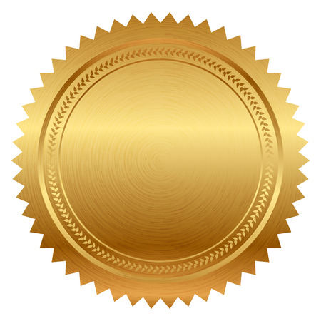 Illustration pour Vector illustration of gold seal - image libre de droit