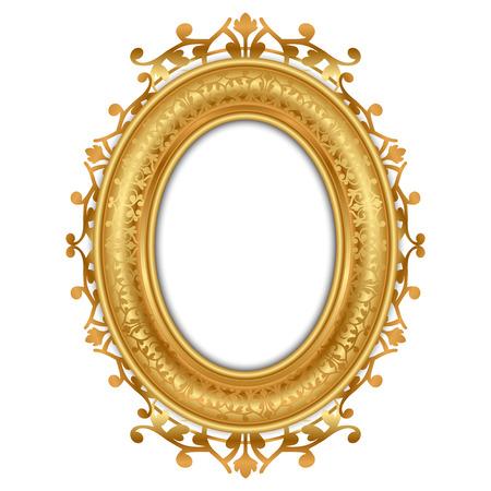 Illustration pour Vector illustration of gold vintage frame - image libre de droit