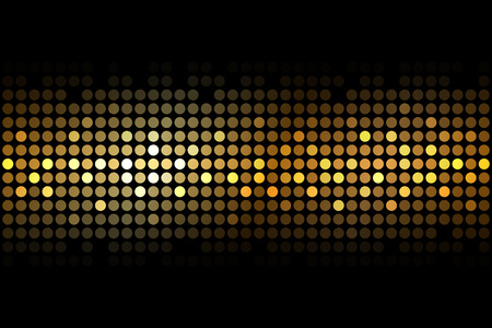Illustration pour Vector gold lights on black background - image libre de droit